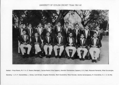 Uni of Ceylon Cricket Team 1961158
