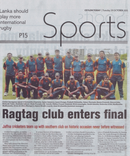 Ragtag Club- Ceylon Today