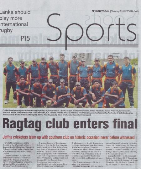 Ragtag Club- Ceylon Today