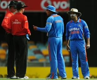 India's Virender Sehwag (2nd-R) and Sach