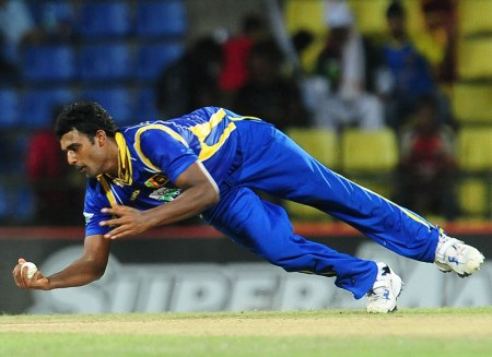 Thisara in action -