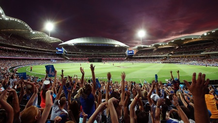 during the Big Bash League match between the Adelaide Strikers and the Sydney Sixers at Adelaide Oval on December 31, 2015 in Adelaide, Australia.