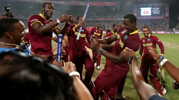 X during the ICC World Twenty20 India 2016 final match between England and West Indies at Eden Gardens on April 3, 2016 in Kolkata, India.