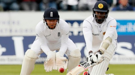 Britain Cricket - England v Sri Lanka - Second Test - Emirates Durham ICG - 29/5/16 Sri Lanka's Angelo Mathews in action Action Images via Reuters / Jason Cairnduff Livepic EDITORIAL USE ONLY.