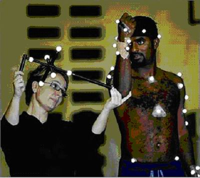25a--Murali being measured & wired for tests by Jacque Alderson