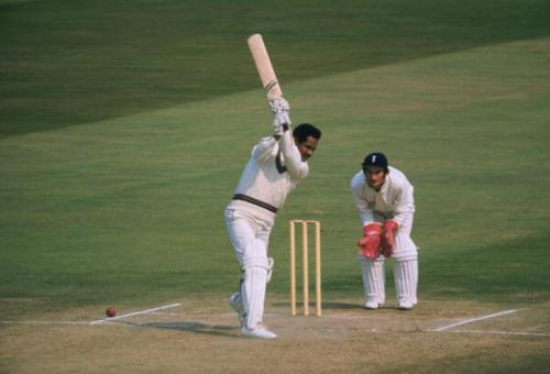 1973: Sir Garfield Sobers of the West Indies bats while Alan Knott of England waits behind the wicket during a match at the Kennington Oval in London. Mandatory Credit: Allsport UK /Allsport