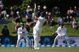 CHRISTCHURCH, NEW ZEALAND - NOVEMBER 18: Jeet Raval of New Zealand bats during day two of the First Test between New Zealand and Pakistan at Hagley Oval on November 18, 2016 in Christchurch, New Zealand. (Photo by Martin Hunter/Getty Images)