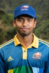 Sadeera Rashen posing for a portrait at Red Bull Campus Cricket in Dehradun, India on 18 October 2015
